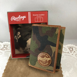 Rawlings Bags - Rawlings Camo Tri-Fold Wallet Canvas and Leather